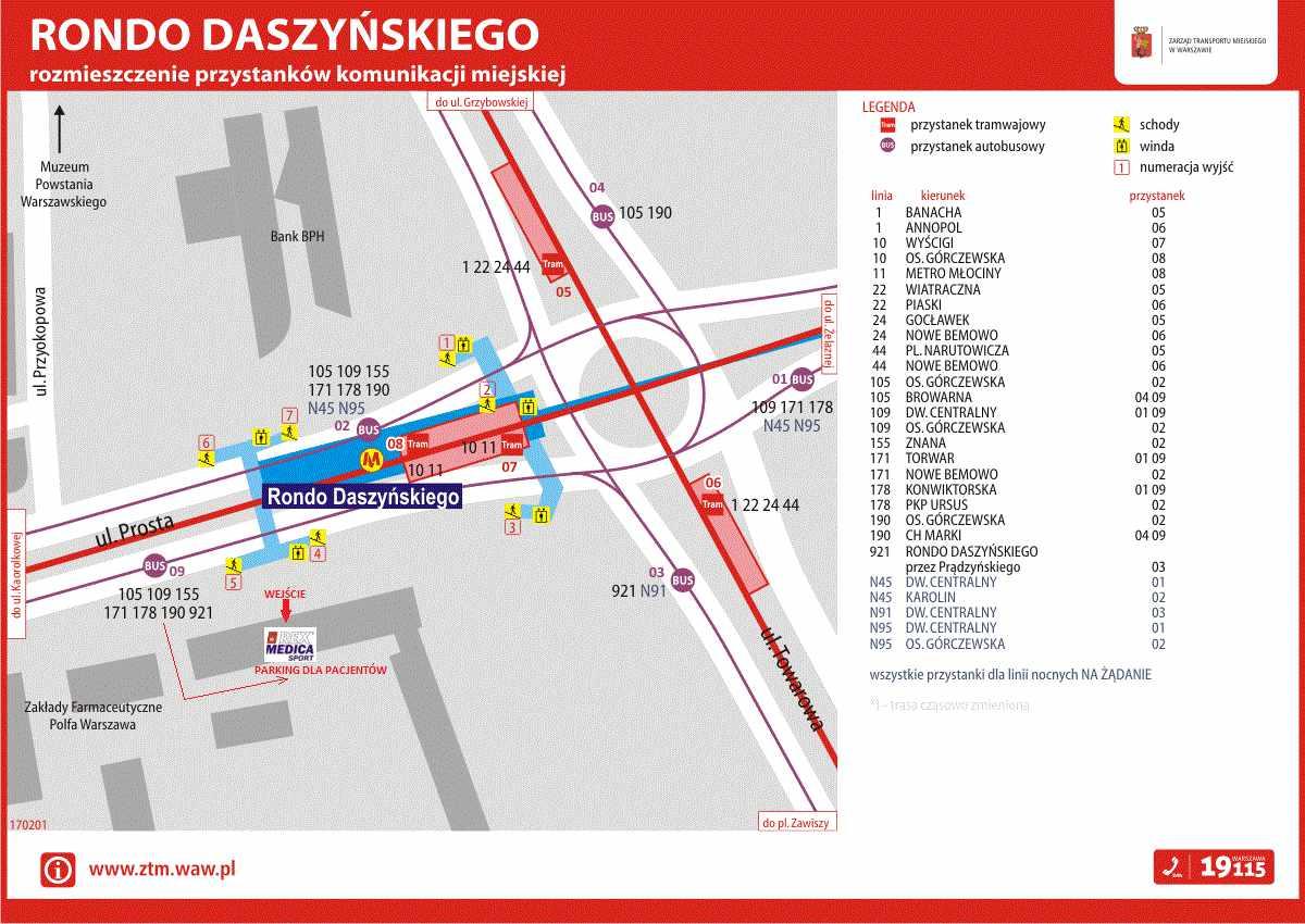 Mapa dojazdowa Rex Medica ul. Prosta 69